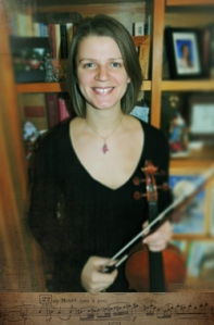 Charon Berka and her violin